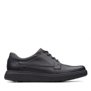 Clarks Mens Un Abode Ease Black Leather Shoes